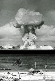 US conducted Operation Crossroads tests from 1946-58