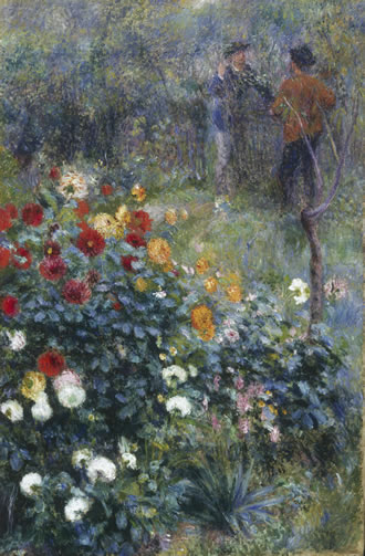 Renoir: Garden in the rue Cortot, Montmartre
