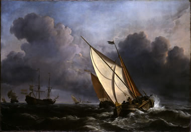 Willem Van de Velde the Younger A Rising Gale