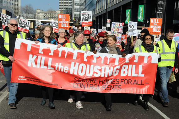 March against Housing Bill
