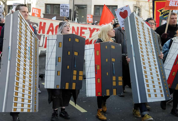 Thousands march against Housing Bill