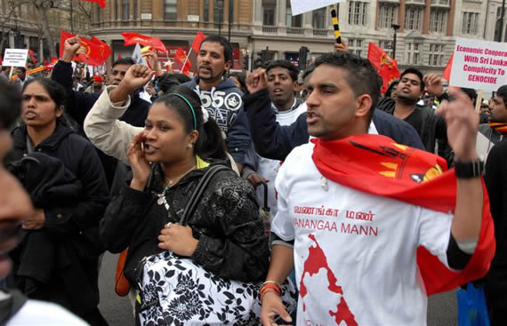 Tamil march 11 April 2009 London